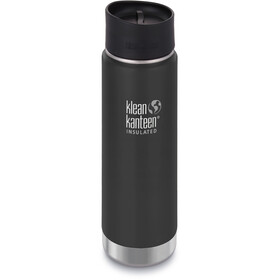 Klean Kanteen Wide Vacuum Insulated Drikkeflaske Café Cap 2.0 592ml, shale black matt